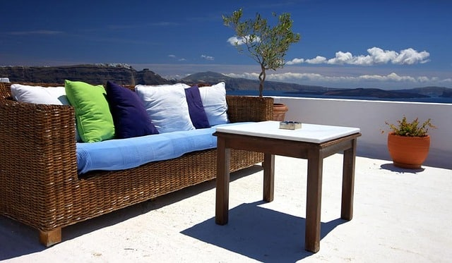 decorar terraza o balcón, los muebles