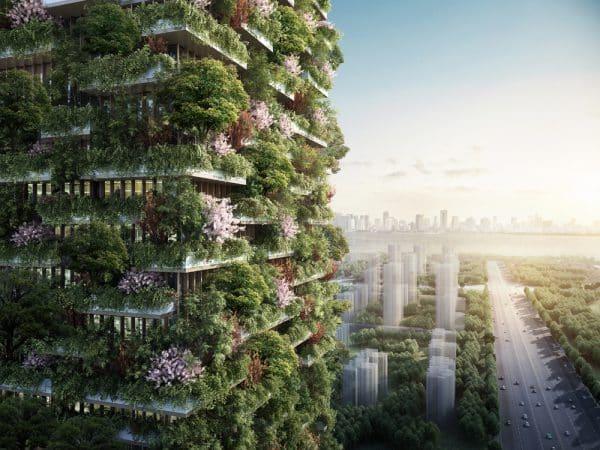 Nanjing Vertical Forest. El primer bosque vertical de China.