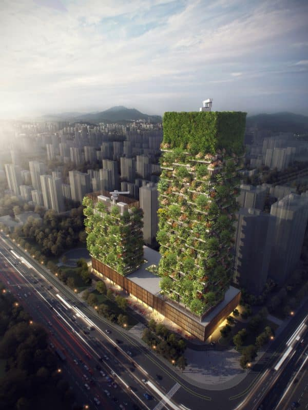 Nanjing Vertical Forest. El primer bosque vertical de China.