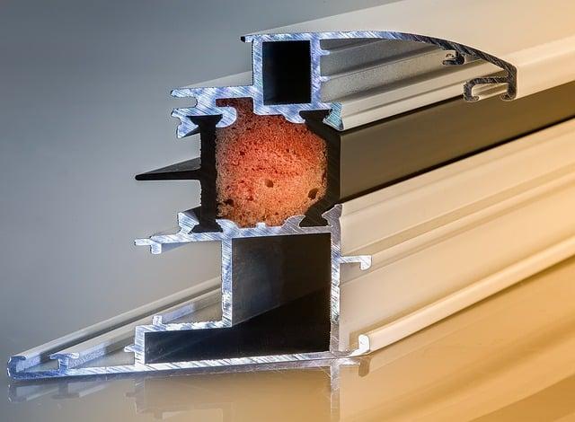 corte ventana aluminio