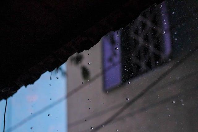 lluvia en tejado