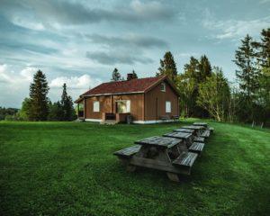 casa tipo bungalow de madera